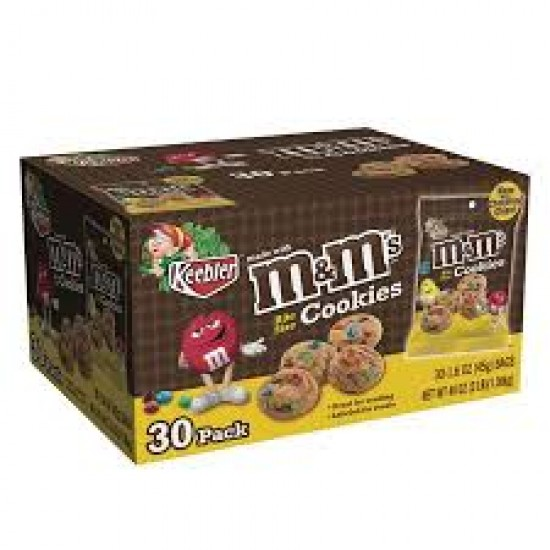 M&M COOKIES BULK BOX 30 BAGS