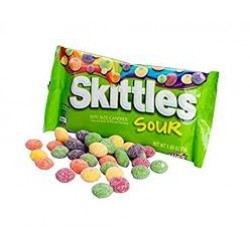 skittles sour - american