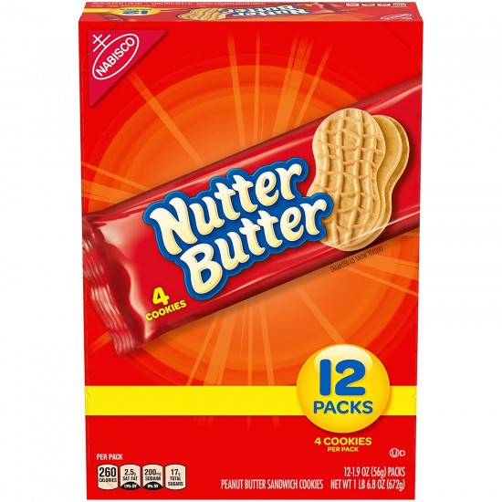 NUTTER BUTTER BISCUITS FULL BOX (12 PACKS)
