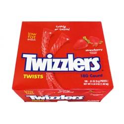 TWIZZLERS BULK BOX 180 PIECES STRAWBERRY