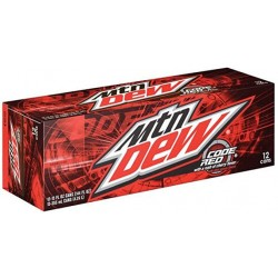 MTN DEW CODE RED FRIDGE PACK (12 CANS)