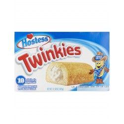 Hostess Twinkie Box of 10 Golden Sponge Cakes with Creamy Filling