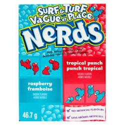 NERDS SURF AND TURF RASPBERRY AND TROPICAL PUNCH