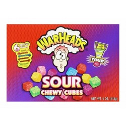 WARHEADS SOUR CHEWY CUBES THEATRE BOX