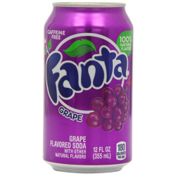 Fanta Grape Soda Pop