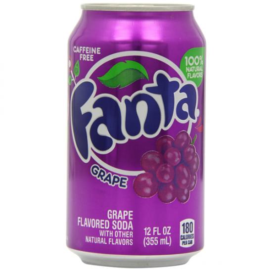 Fanta Grape Soda Pop