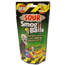 Sour Smog Balls Crunchy Candy With A Sour Chewy Center
