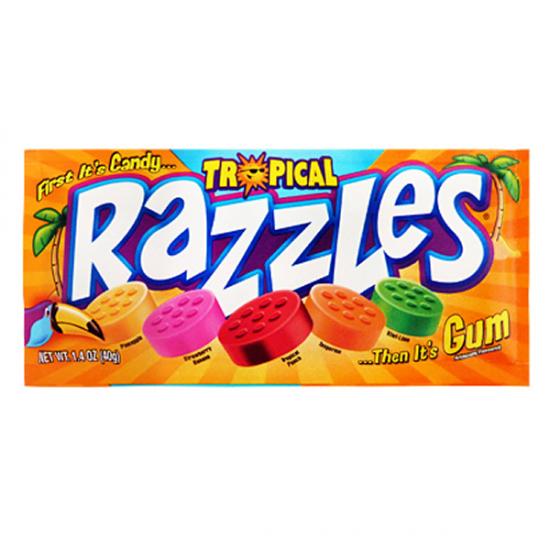 Tropical Razzles Candy Gum