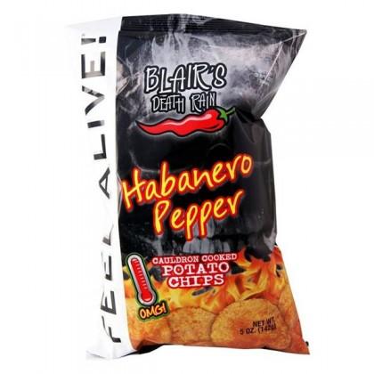 Blair's Death Rain Habanero Pepper Chips 142g