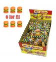 6 x E-Frutti Gummi Burgers